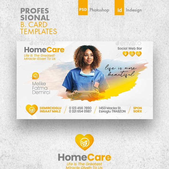 Home Care Business Card Templates