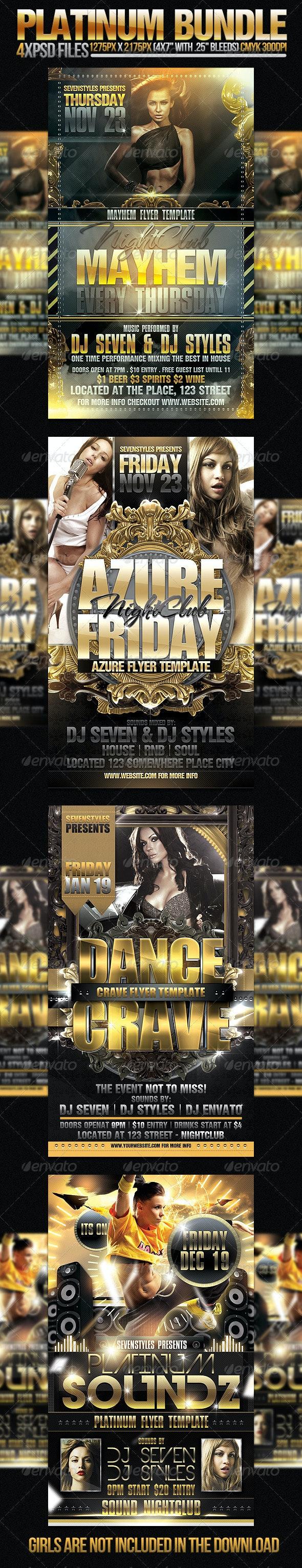 Platinum Flyer Bundle - Clubs & Parties Events