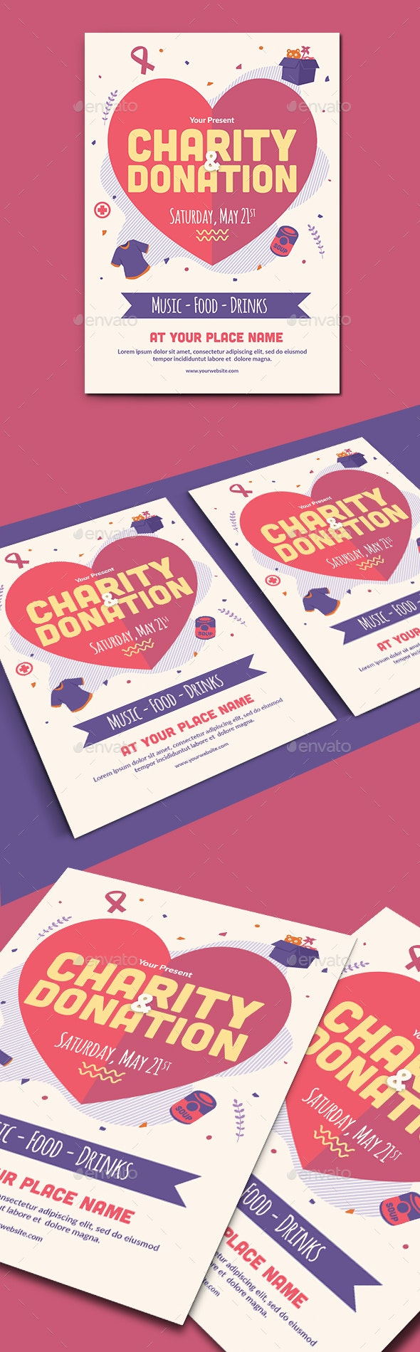 Charity Event Flyer Template - Events Flyers