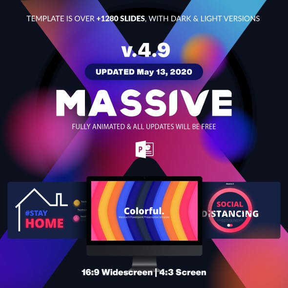 Massive X Presentation Template v.4.9 Fully Animated