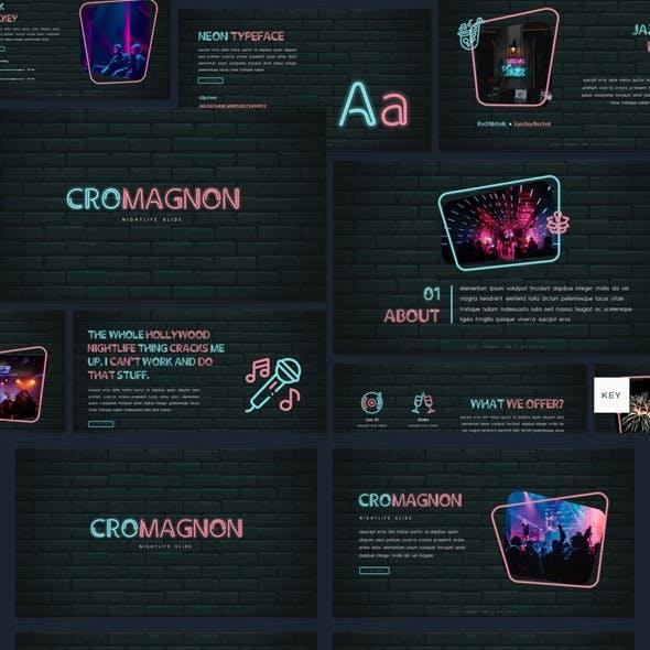 Cromagnon - Creative Neon Keynote Template