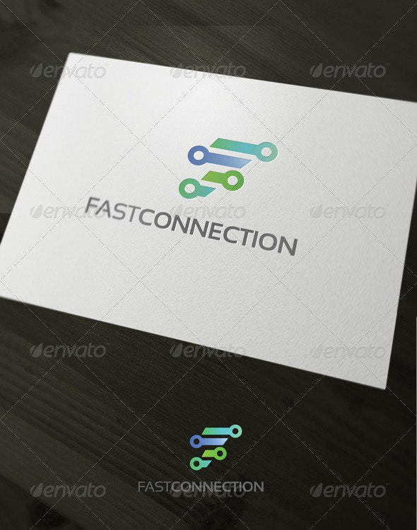 Fast Connection - Letters Logo Templates