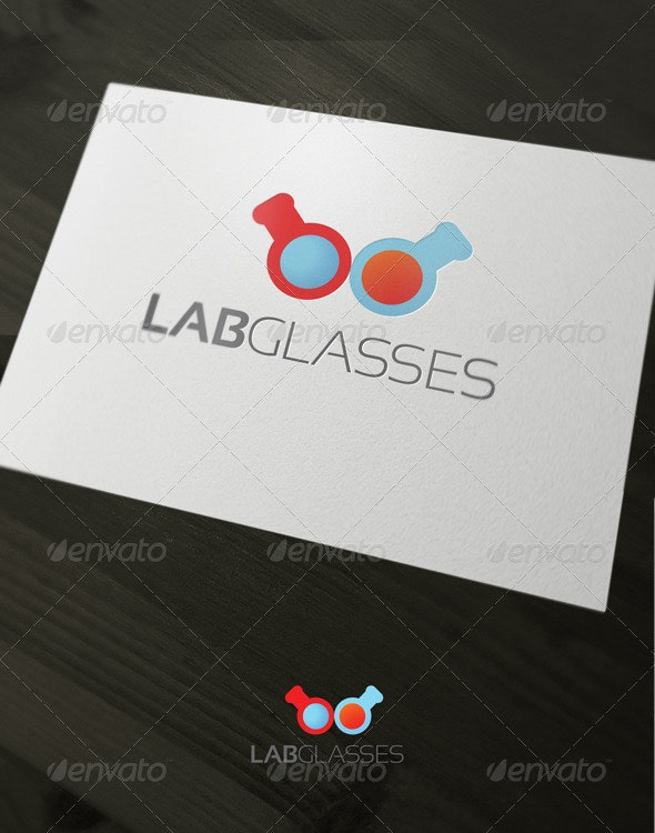 Lab glasses - Vector Abstract
