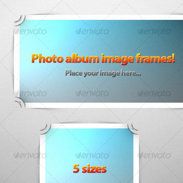 Photo Album Image Frames