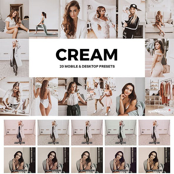 20 Cream Lightroom Presets and LUTs
