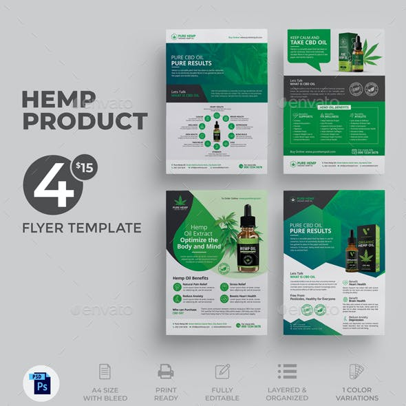 Hemp Product Flyer Bundle