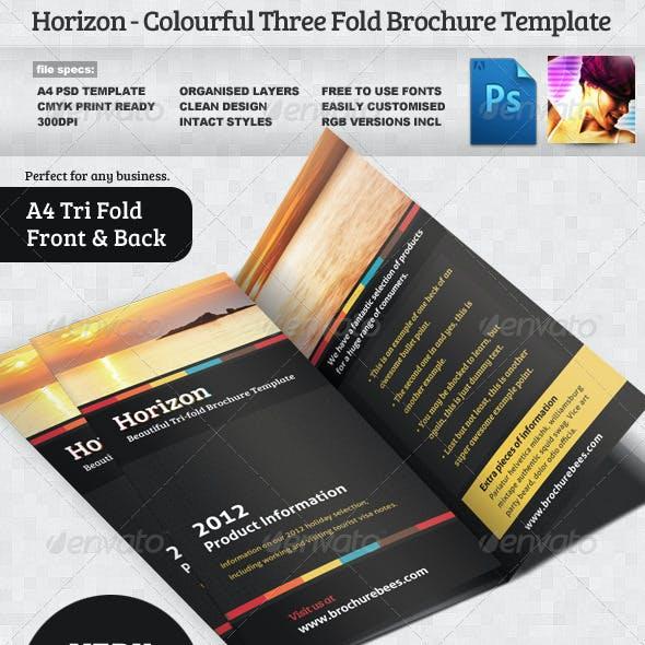 Horizon Tri Fold Brochure Template