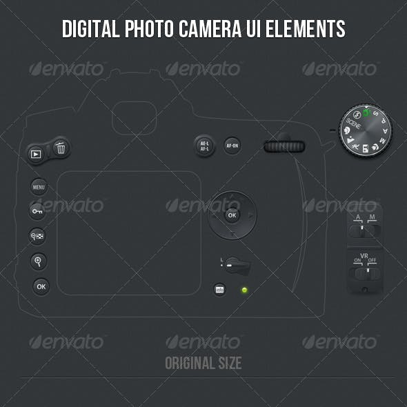 Digital Photo Camera UI Elements