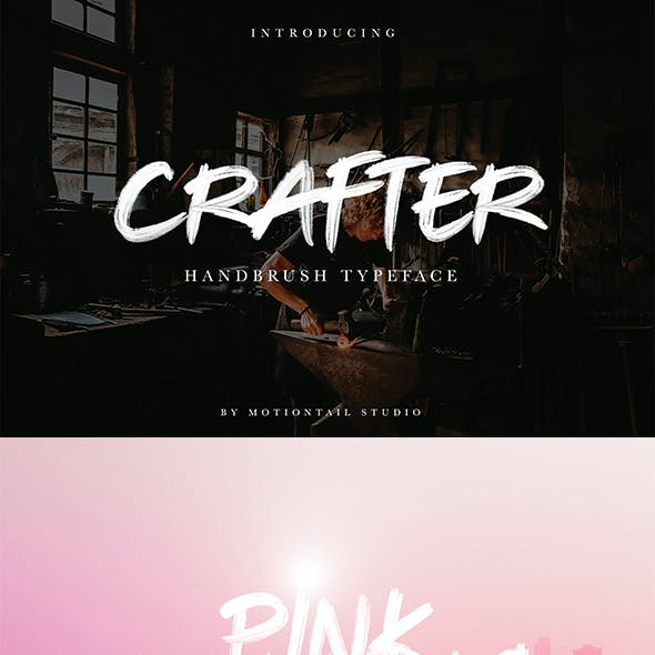 Crafter - Textured Brush Font