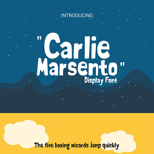 Carlie Marsento Display Font