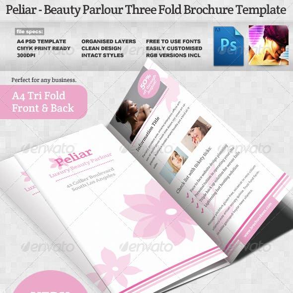 Peliar Beauty / Hair Salon 3 Fold Brochure