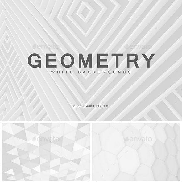 White Geometry Backgrounds 1