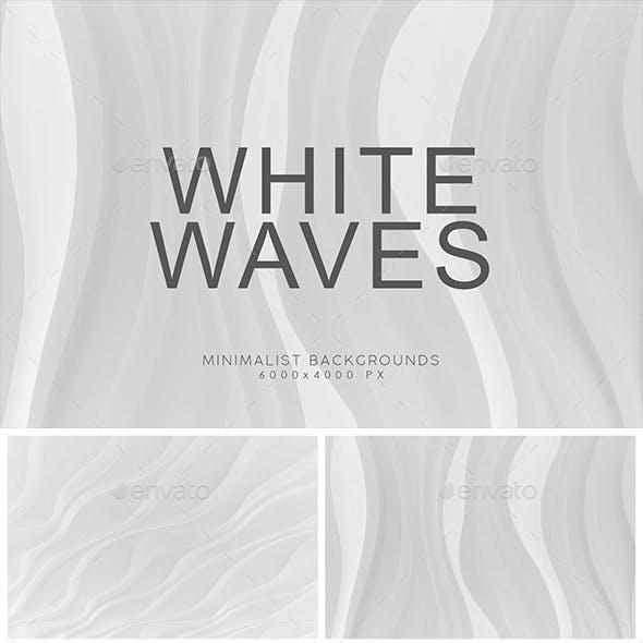 White Minimalist Wave Backgrounds 2