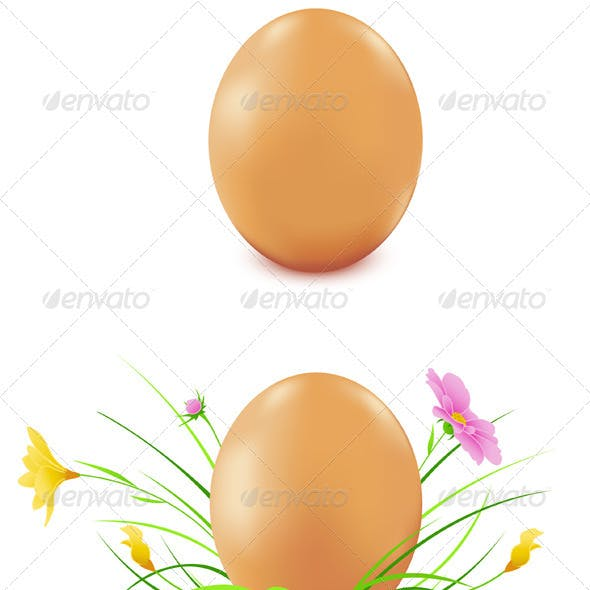 Hen's Eggs with Flowers