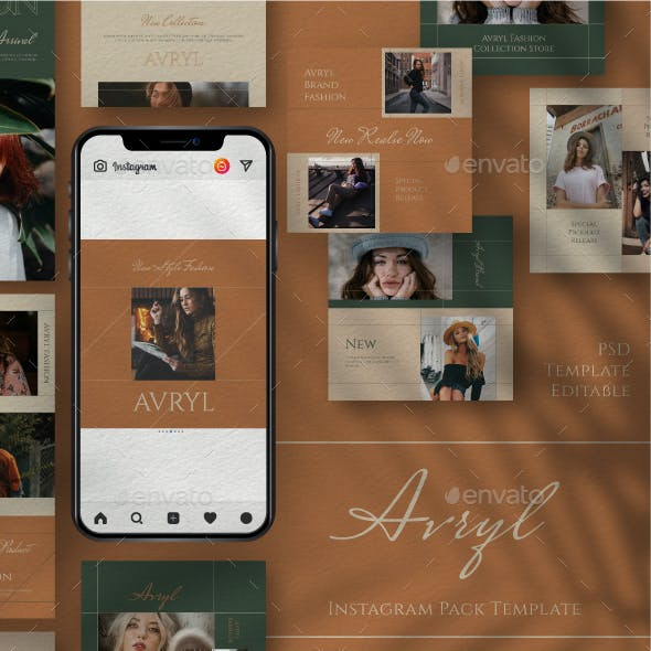 Avryl Story & Feed Instagram Template