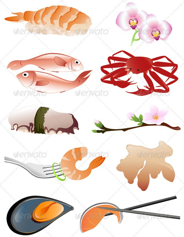 Traditional Japanese Food - Food Objects