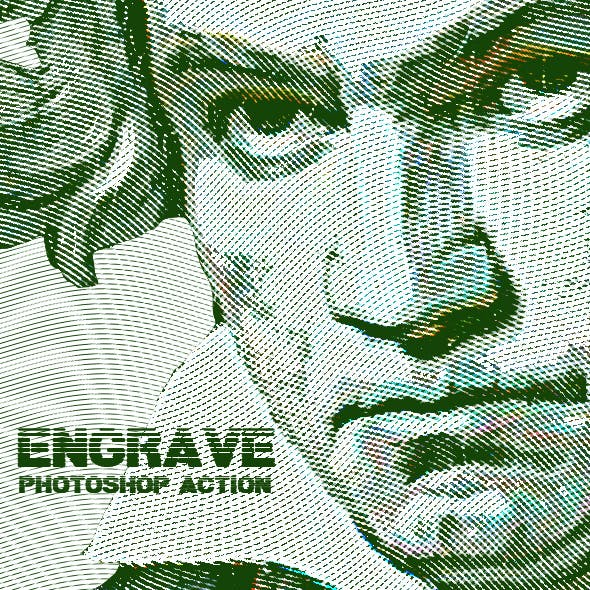 Engrave Photoshop Action