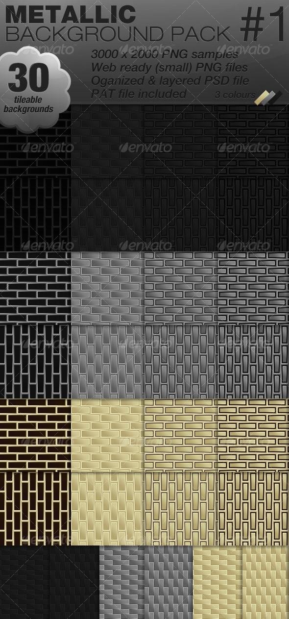 30 Metallic tileable background pack - Metal Textures