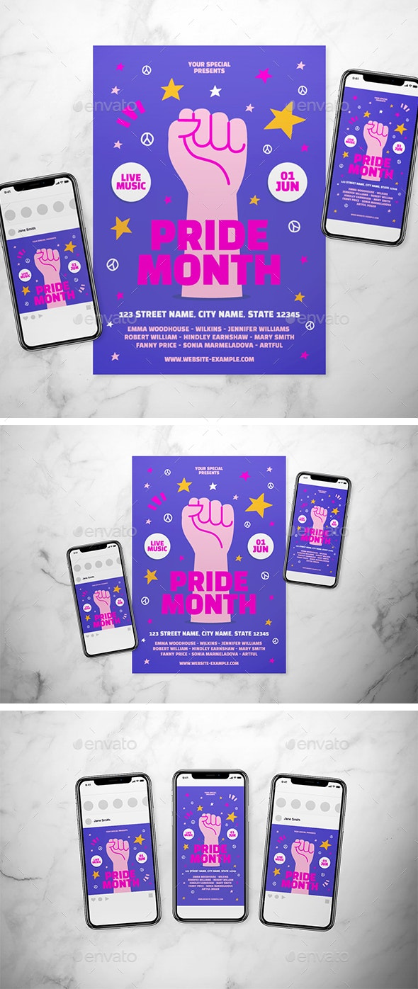 Pride Month Flyer - Events Flyers