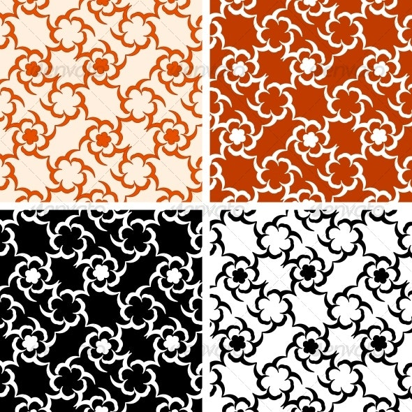 set of the abstract floral patterns - Patterns Decorative