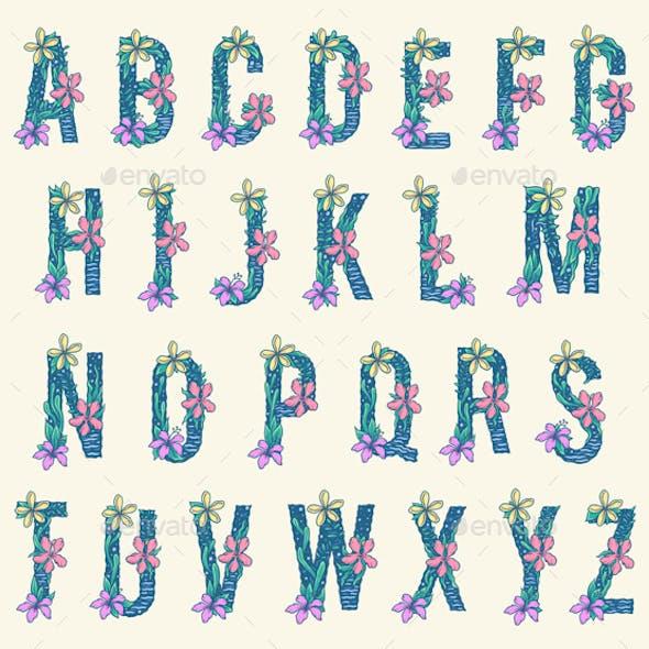 Alphabet - Tropical Letters