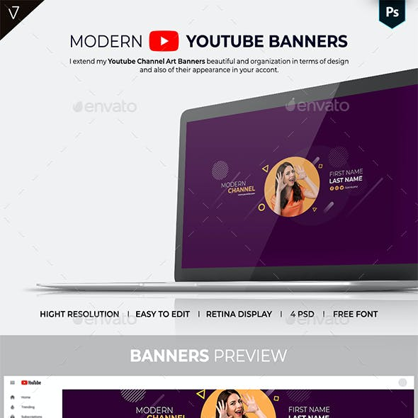 Modern Youtube Channel Banner