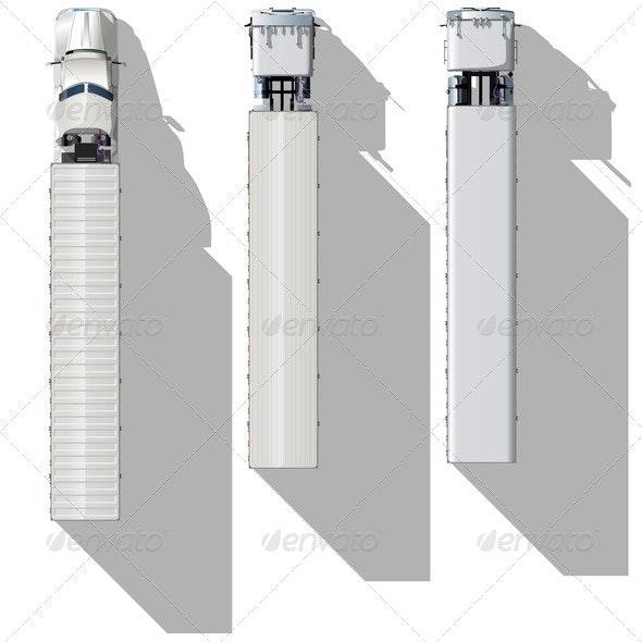 Topview Semitrucks Set - Man-made Objects Objects