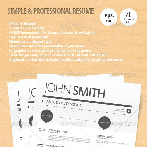 Simple & Professional Resume