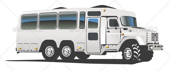 All Terrain Passenger Bus - Man-made Objects Objects