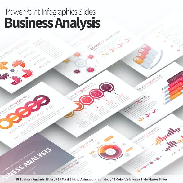 Business Analysis - PowerPoint Infographics Slides