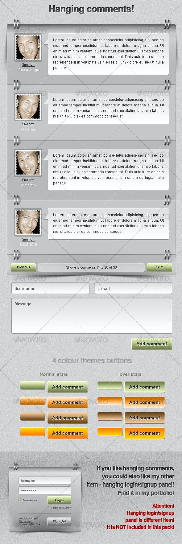 Hanging Comments! - Miscellaneous Web Elements