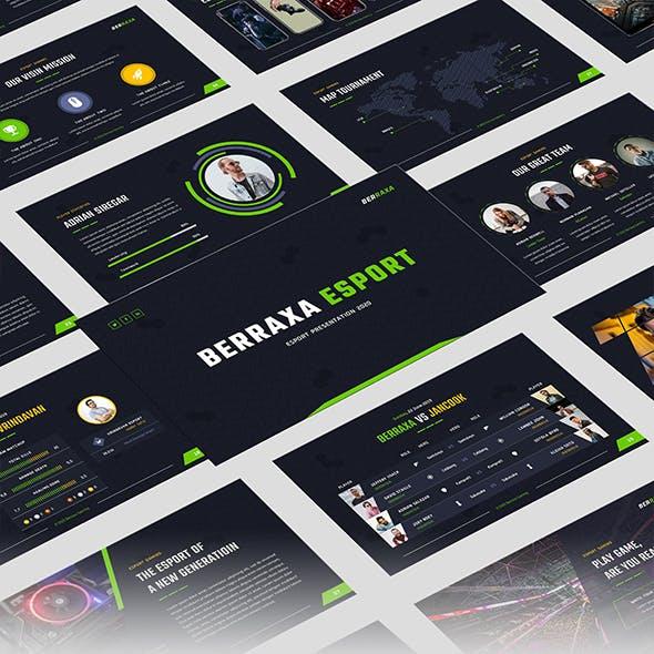Berraxa – Esport Gaming Google Slides Template