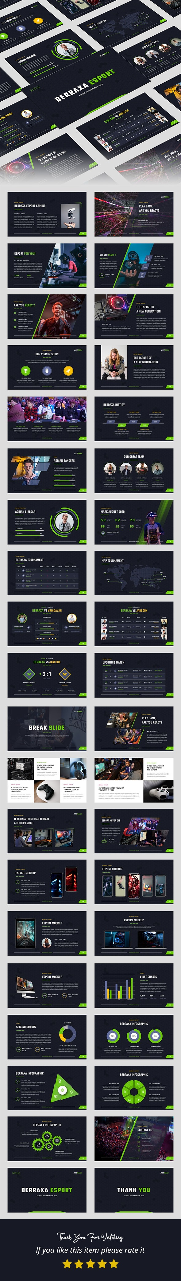 Berraxa – Esport Gaming Google Slides Template - Google Slides Presentation Templates