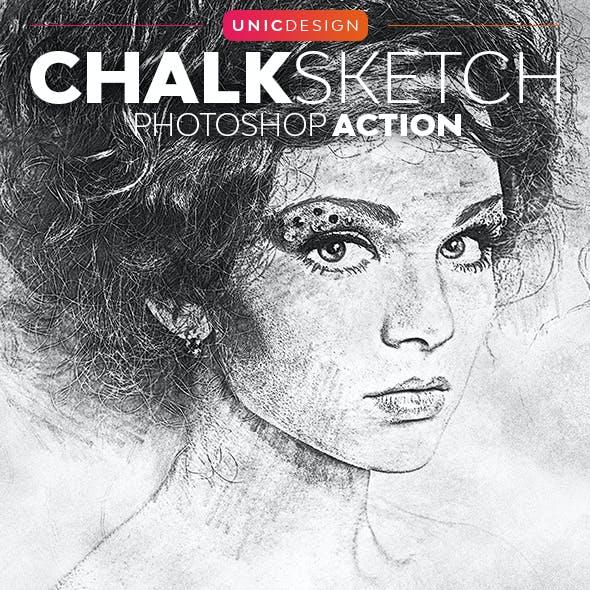 Chalk Sketch Photoshop Action