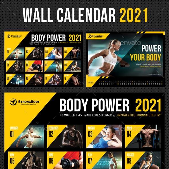 Wall Calendar 2021 V07