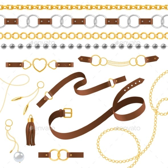 Belt Chain and Bracelet Elements