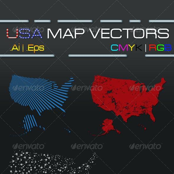 USA Map Vectors