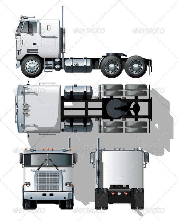 Semi Truck - Man-made Objects Objects