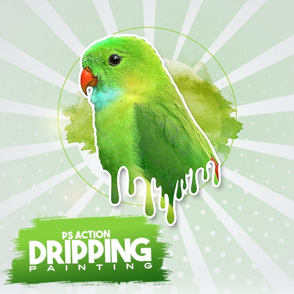 Dripping Painting Photoshop Action