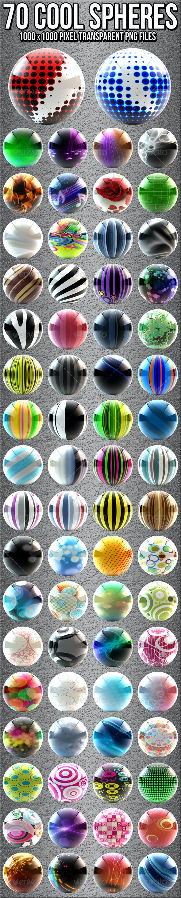 70 High Gloss Orbs - Abstract 3D Renders