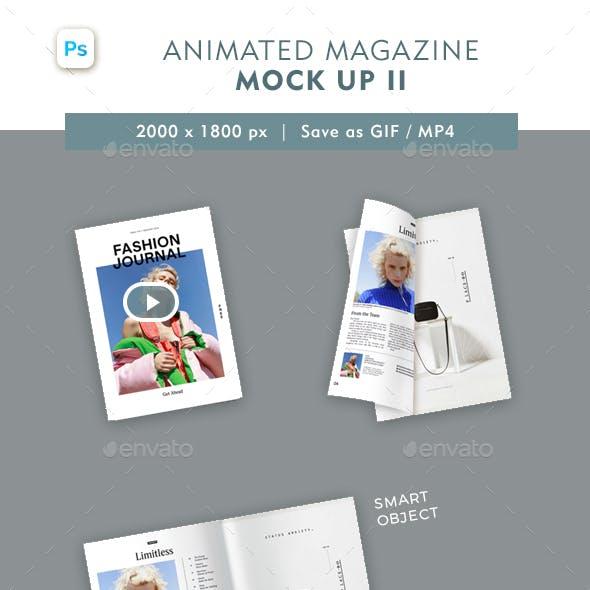 Animated Magazine Mock Up