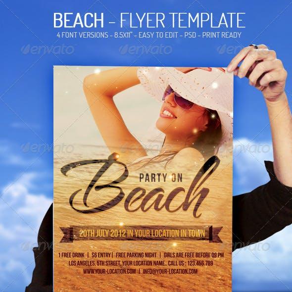 Beach - Flyer Template