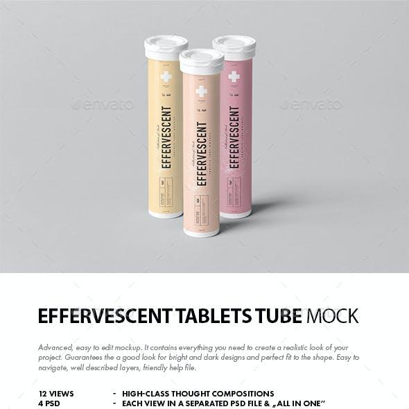 Effervescent Tablets Tube Mock-up