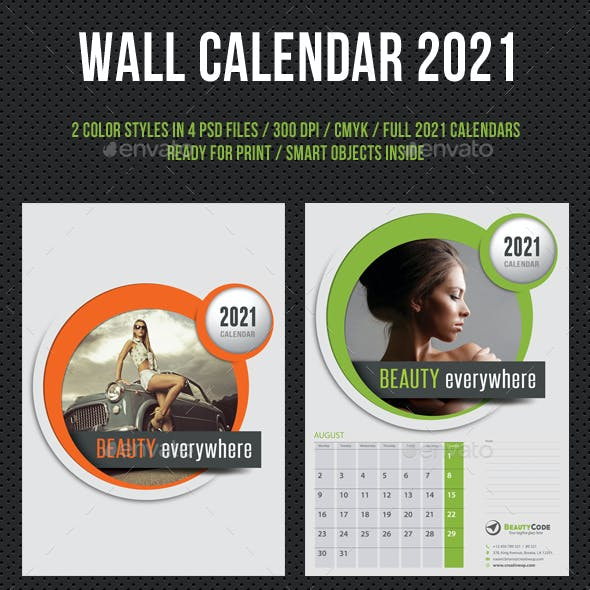 Wall Calendar 2021 V05