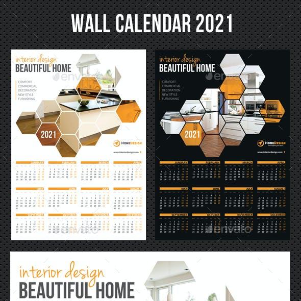 Wall Calendar 2021 V04