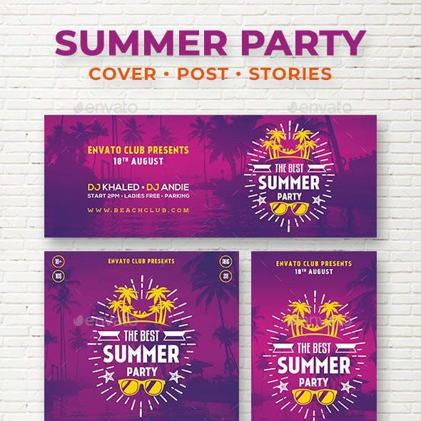 Summer Party Social Media