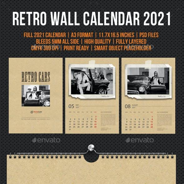 Wall Calendar 2021 Retro Photo