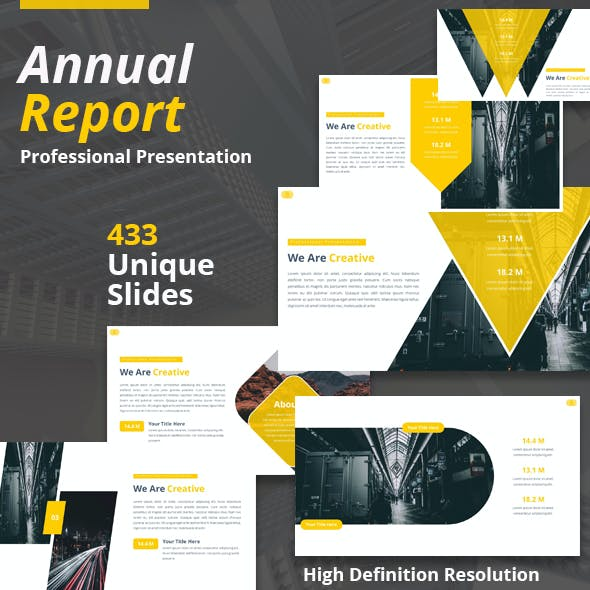 Annual Report Package Powerpoint Template