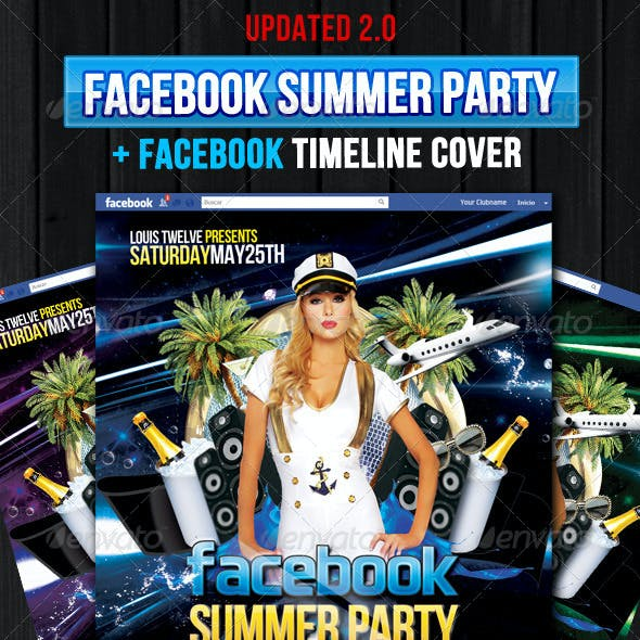 Facebook Summer Party - Flyer + Fb Timeline