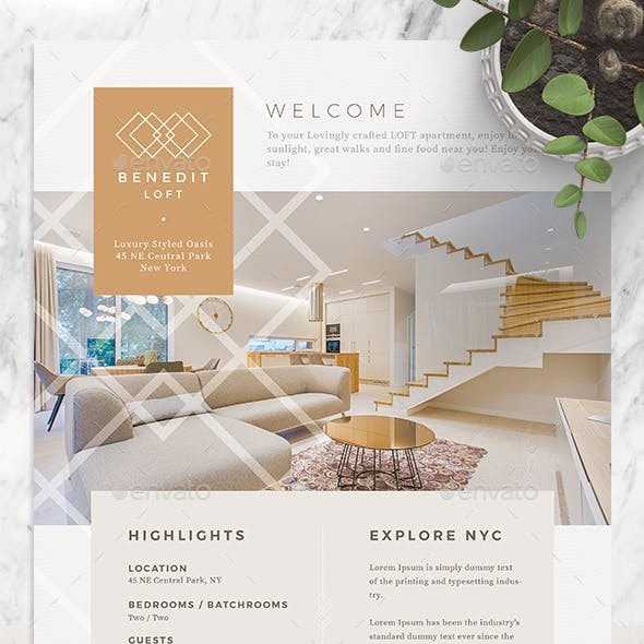 Accommodation Welcome Message Flyer